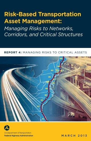 Risk-Based Transportation Asset Management - About - U.S. ...