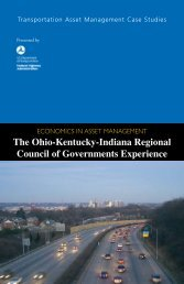 Transportation Asset Management Case Studies Economics in asset ...