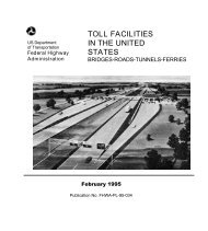 toll facilities in the united states - U.S. Department of Transportation