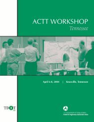 Tennessee Workshop Report Accelerated Construction - Federal ...