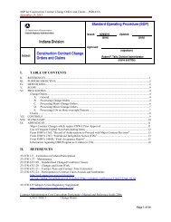 Internal Control Document/Standard Operating Procedures