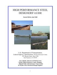 High Performance Steel Designers - About - U.S. Department of ...