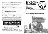 Friedensinfo 38 - Friedens Initiative Hunsrück
