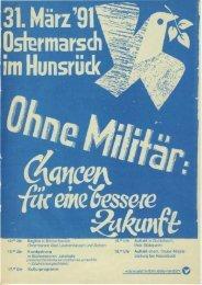 Ostermarschaufruf 1991 - Friedens Initiative Hunsrück