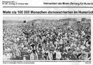 15 100 000 Menschen demonstrierten im Hunsrücl Mehr - Friedens ...