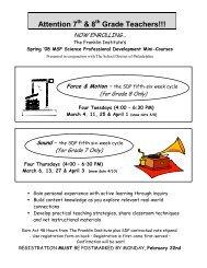 Attention 7 & 8 Grade Teachers!!! - The Franklin Institute