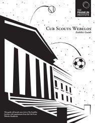 Cub Scouts Webelos - The Franklin Institute