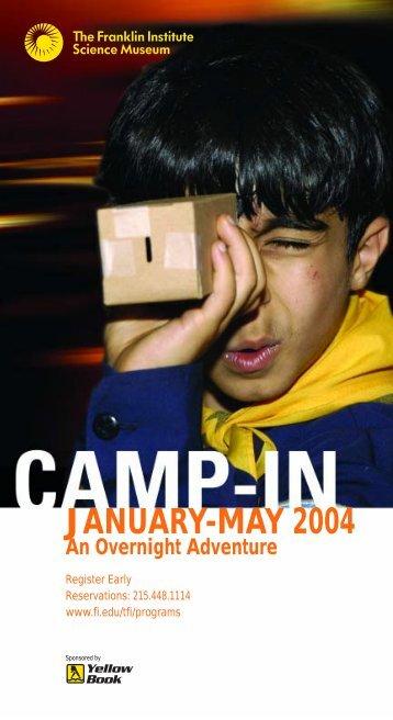 Camp-in brochure 2004 - The Franklin Institute
