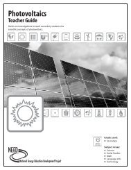 Photovoltaics Teacher Guide