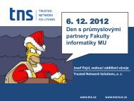 Den s průmyslovými partnery Fakulty informatiky MU