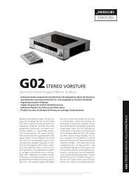 G02 STEREO VORSTUFE - Audio Reference