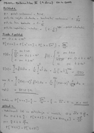 MB104 - Matematika IV (9. demo)