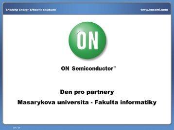 ON Semiconductor Czech Republic, s.r.o. - Fakulta informatiky