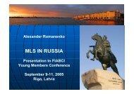MLS IN RUSSIA - FIABCI