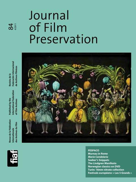 Journal Of Film Preservation Fiaf