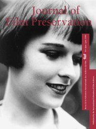 Journal of Film Preservation N° 56 - FIAF
