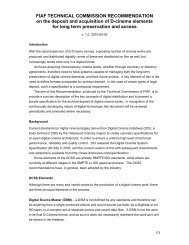FIAF TECHNICAL COMMISSION RECOMMENDATION on the ...