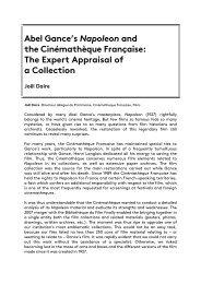 Abel Gance's Napoleon and the Cinémathèque Française ... - FIAF