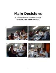 Main Decisions - FIAF
