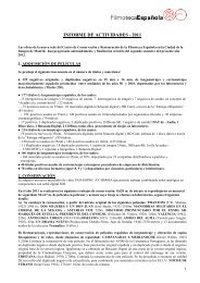 INFORME DE ACTIVIDADES - 2011 - FIAF