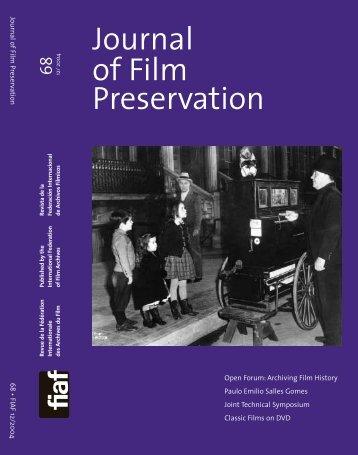 Journal of Film Preservation - FIAF