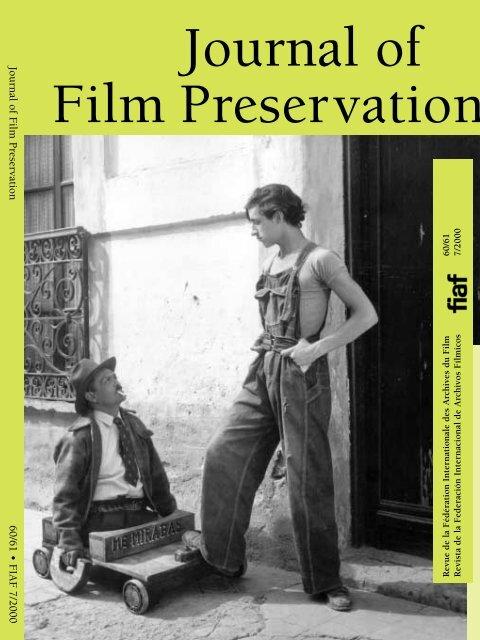 Journal Of Film Preservation N 60 61 Fiaf