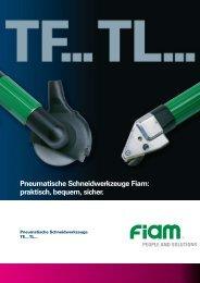 Pneumatische Schneidwerkzeuge Fiam: praktisch, bequem, sicher.