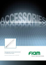 Electronics dynamometric wrenches - Fiam