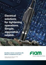 Electrical solutions for tightening operations. Simple, ergonomic - Fiam