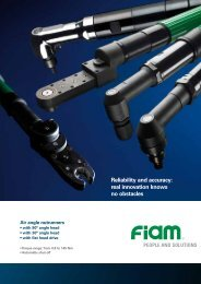 Reliability and accuracy: real innovation knows no obstacles - Fiam