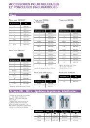 accessoires pour meuleuses et ponceuses pneumatiques