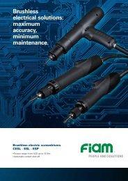 Brushless electrical solutions: maximum accuracy, minimum ... - Fiam