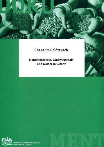 Ghana im Goldrausch - FIAN Österreich
