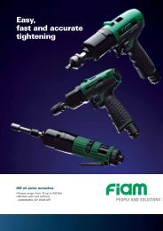Easy, fast and accurate tightening - Fiam