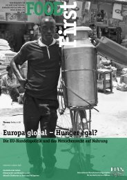 FOODFirst 2008-2: Europa global – Hunger egal? - FIAN Österreich