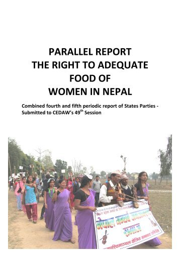parallel report the right to adequate food of women in nepal