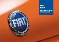 603.45.878 Fiat Idea Instructie - Fiat-Service