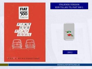 Instruktionsbog - Fiat 500 Klub Danmark
