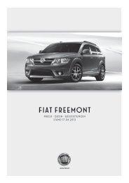 Preisliste Fiat Freemont