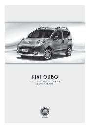 Preisliste Fiat Qubo - Fiatpress.at