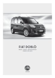 Preisliste Fiat Doblò - Fiatpress.at