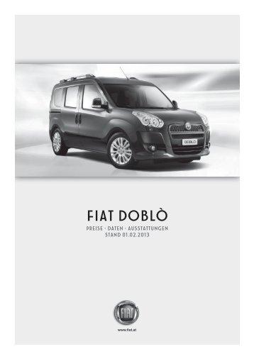 Preisliste Fiat Doblò - Fiatpress.at