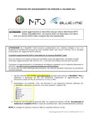 Istruzioni per aggiornamento BlueMe NAV di Alfa ... - fiatautomobil.at