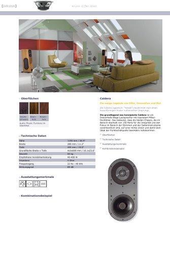 Caldera Website - Audio Physic