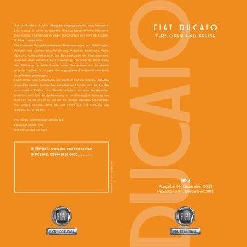 Drucken Doblo Cargo_Preisliste 1#6737EA - Fiat Professional