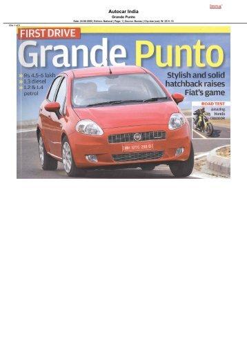 Autocar India - FIAT India