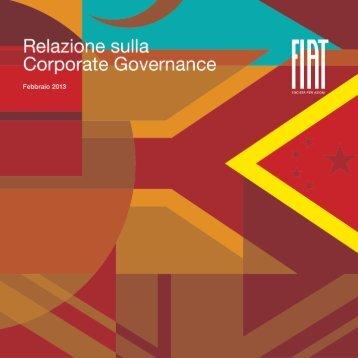 Relazione sulla Corporate Governance (Febbraio 2013) - Fiat SpA