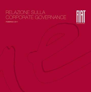 Relazione sulla Corporate Governance - Febbraio 2011 - Fiat SpA