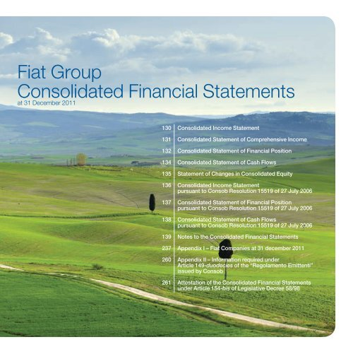 Fiat Group - Consolidated Financial Statements and Notes - Fiat SpA