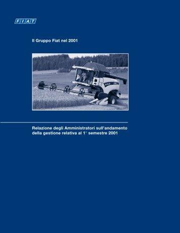 Il Gruppo Fiat nel 2001 Relazione degli Amministratori sull - Fiat SpA